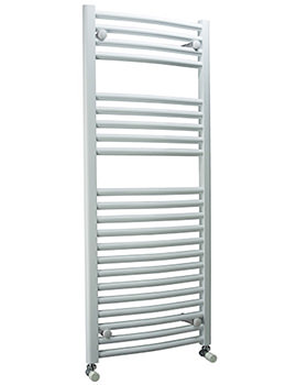 DQ Heating Orion 600mm Wide Curved Heated Towel Rail White