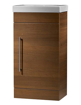 Esta 460mm Walnut Freestanding Unit Including Basin