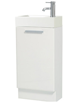Phoenix Ariz White Basin And Base Vanity Unit 450mm - FQ45F