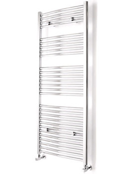 Curved White Towel Warmer 500 x 690mm - 148212