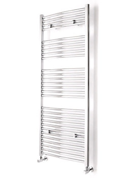 Essential Curved White Ladder Towel Rail 600 x 690mm