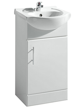 Lauren Laguna 450mm Vanity Unit And Basin Gloss White