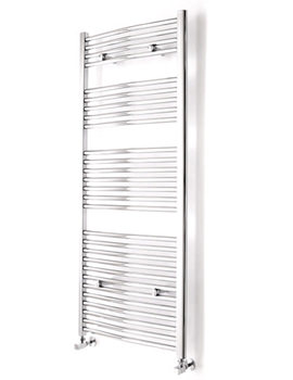Essential Curved White Towel Warmer 500 x 1110mm - 148213