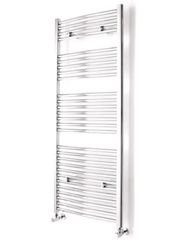 Curved White Towel Warmer 600 x 1110mm - 148217