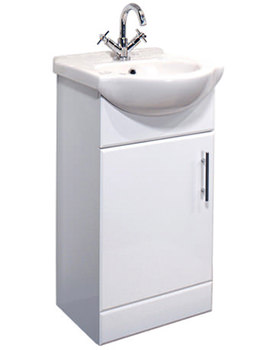 Gem Vanity Basin Unit White 450mm - GEM005W