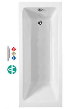 Amanzonite Rectangularo 4 Single Ended Bath 1700x750mm