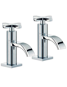 Surf Chrome Basin Taps Pair - RDX001