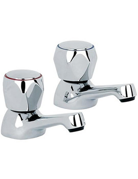 Mayfair Alpha Chrome Basin Taps Pair - AL001