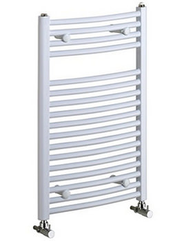 Rosanna 500 X 1750 White Curved Ladder Rail - LR R1755C W