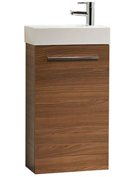 Kobe 450mm Walnut Floorstanding Unit And Basin - KFS45AW