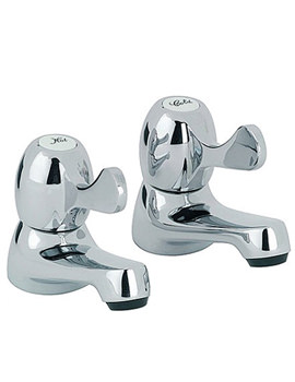 Alpha Basin Taps With Lever Handles (Pair) - AL047