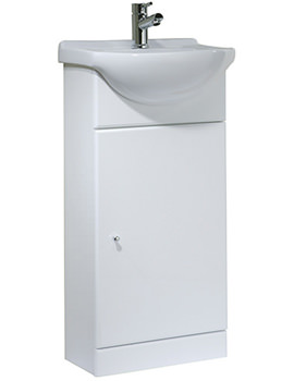 Tavistock Meridian 400mm White Freestanding Unit Including Basin