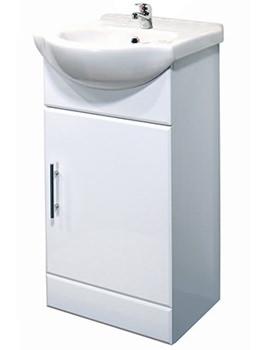 Balterley Gloss White Freestanding 450mm Vanity Unit And Basin