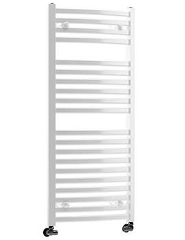 DQ Heating Quebec Vertical Curved Heated Towel Rail 500 x 800mm
