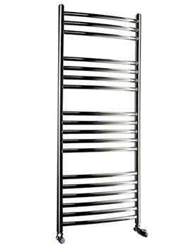 DQ Heating Zante Polished Stainless Steel Curved Towel Rail 600 x 700mm