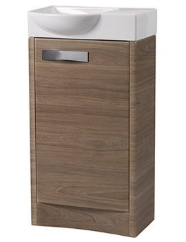 Mia Dark Elm 450mm Freestanding Unit With Resin Basin