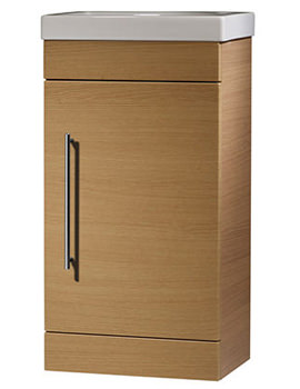 Related Roper Rhodes Esta Natural Oak 450mm Cloakroom Unit With Basin