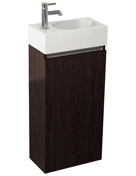Pura Echo 400mm Wenge Single Door Floor Standing Unit And Basin