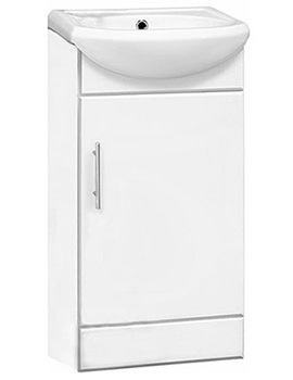Lauren Sienna Gloss White 400 x 200mm Basin Unit And Basin - NVS100