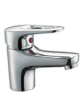 Java Cloakroom Basin Mixer Tap With Push Button Waste
