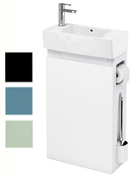 Related Britton All-in-One Floor Standing White Unit With Left Hand Basin