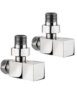 Angled Radiator Valve Pair Chrome - RADVA2