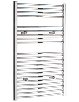 Curved 450 x 1000mm Chrome Towel Rail - CURCR45100