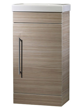 Esta Pale Driftwood 450mm Cloakroom Unit With Basin