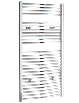 Tivolis Curved 300 x 1000mm Chrome Towel Rail - CURCR30100