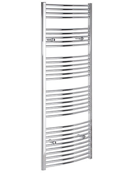 Curved 700 x 1800mm Chrome Towel Rail - CURCR70180