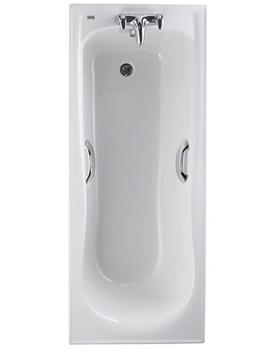 Twyford Galerie Rectangular Acrylic Bath 1700 x 700mm - GN8550WH