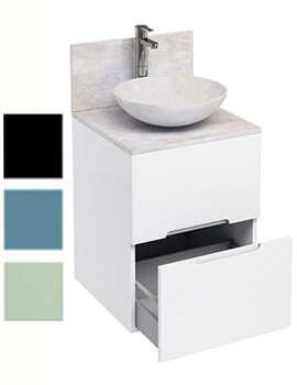 Related Britton Aqua Cabinets D500 Floor-standing Unit With Marble Basin
