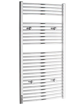 Curved 700 x 1200mm Chrome Towel Rail - CURCR70120