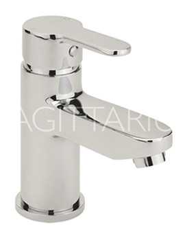 Sagittarius Plaza Monobloc Basin Mixer Tap With Sprung Waste