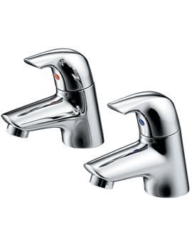Ceraplan SL Pair Of Basin Pillar Taps - B7884AA