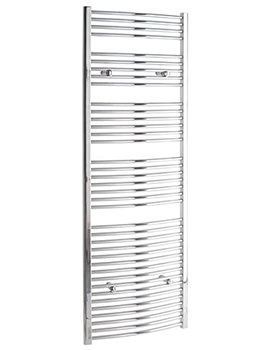 Curved 300 x 1800mm Chrome Towel Rail - CURCR30180