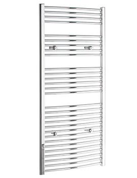 Curved 400 x 1600mm Chrome Towel Rail - CURCR40160