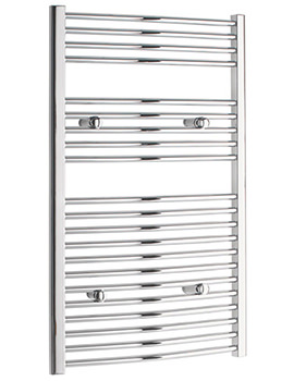 Curved 600 x 1000mm Chrome Towel Rail - CURCR60100
