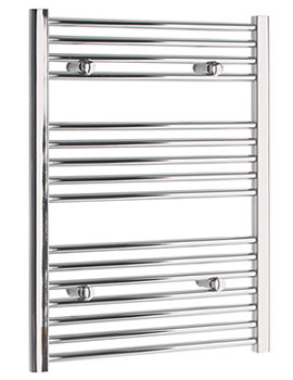 Straight 400 x 600mm Chrome Towel Rail - STRCR4060