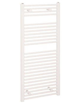 Reina Diva Flat Towel Radiator 400 x 800mm White