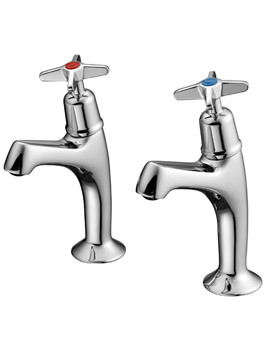 Armitage Shanks Alterna Pair Of High Neck Sink Taps - S7163AA