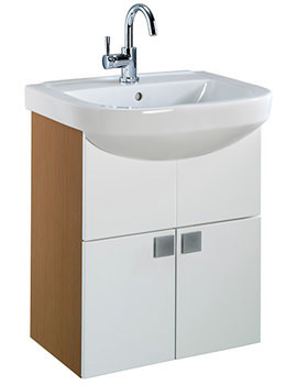 Refresh Square 550 x 460mm Furniture And Basin Set