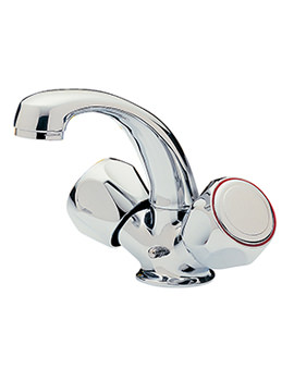 Capri Spray Mono Basin Mixer Tap With Clear Heads - 376B