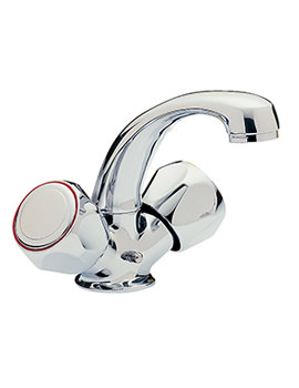 Capri Mono Basin Mixer Tap With Clear Head Chrome - 376