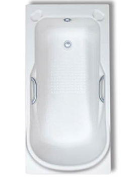 Trojan Premier Single Ended 1400 x 700mm Bath With Twin Grip - 0TH