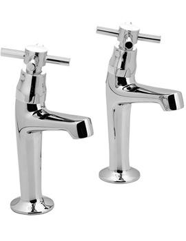 Vecta High Neck Sink Pillar Taps Pair - VEC-156-CD