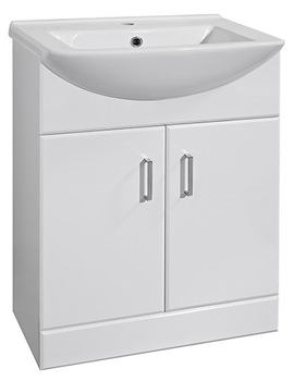 Ultra Marvel High Gloss White 550 Basin And Cabinet - FMV007
