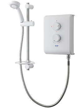 Triton T70Z Electric Shower 7.5kw White And Chrome - SP7007Z