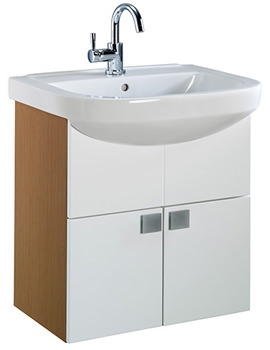 Related Twyford Refresh Square 750 x 500mm Furniture And Basin Set