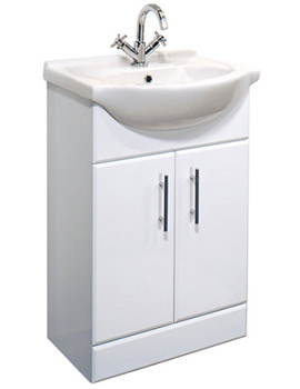 Gem White Vanity Basin Unit 550mm - GEM001W